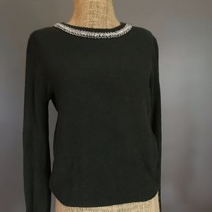 Forever 21 Green Jeweled Sweater